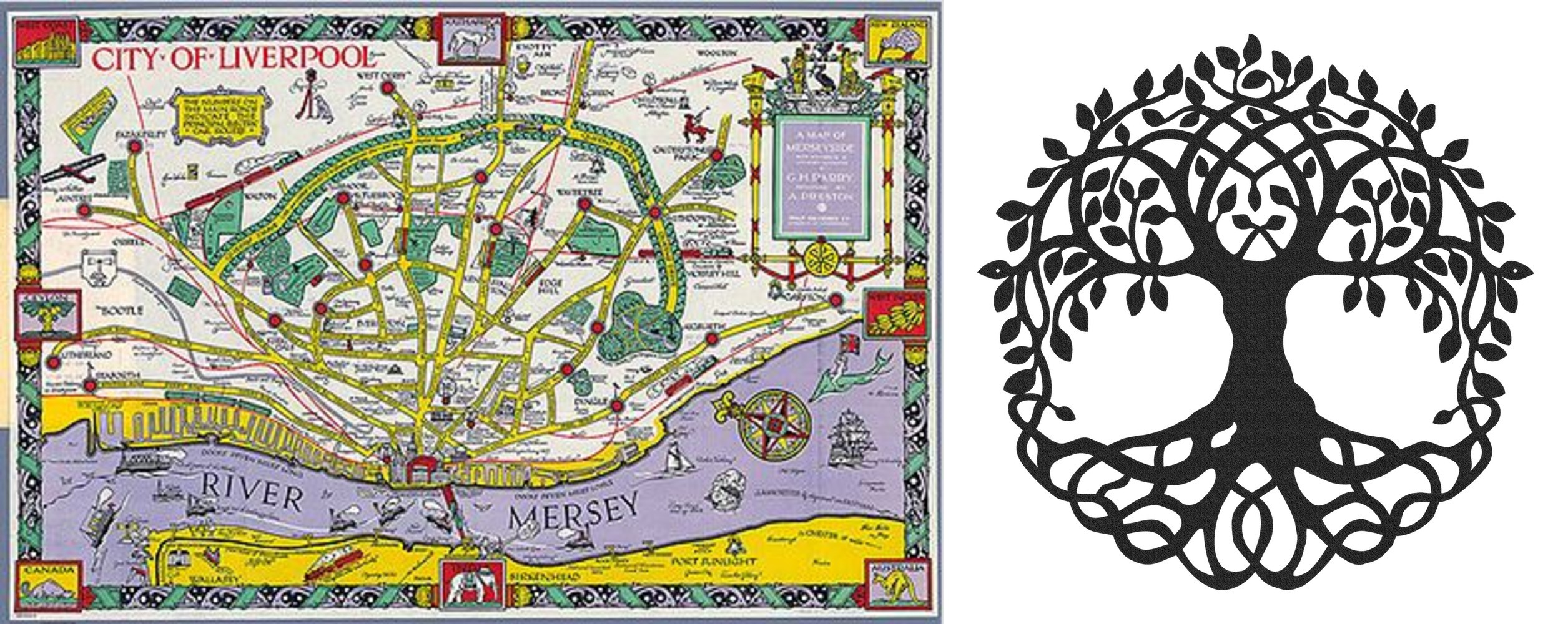 Map Of Liverpool Tree Of Life