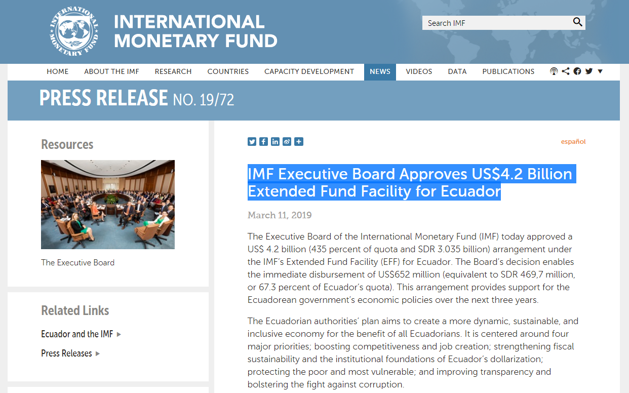 Assange Arrested As IMF Had Ecuador $4.2 Billion For Battle Against Corruption And To Improve Transparency - News Report By EnchantedLifePath.com