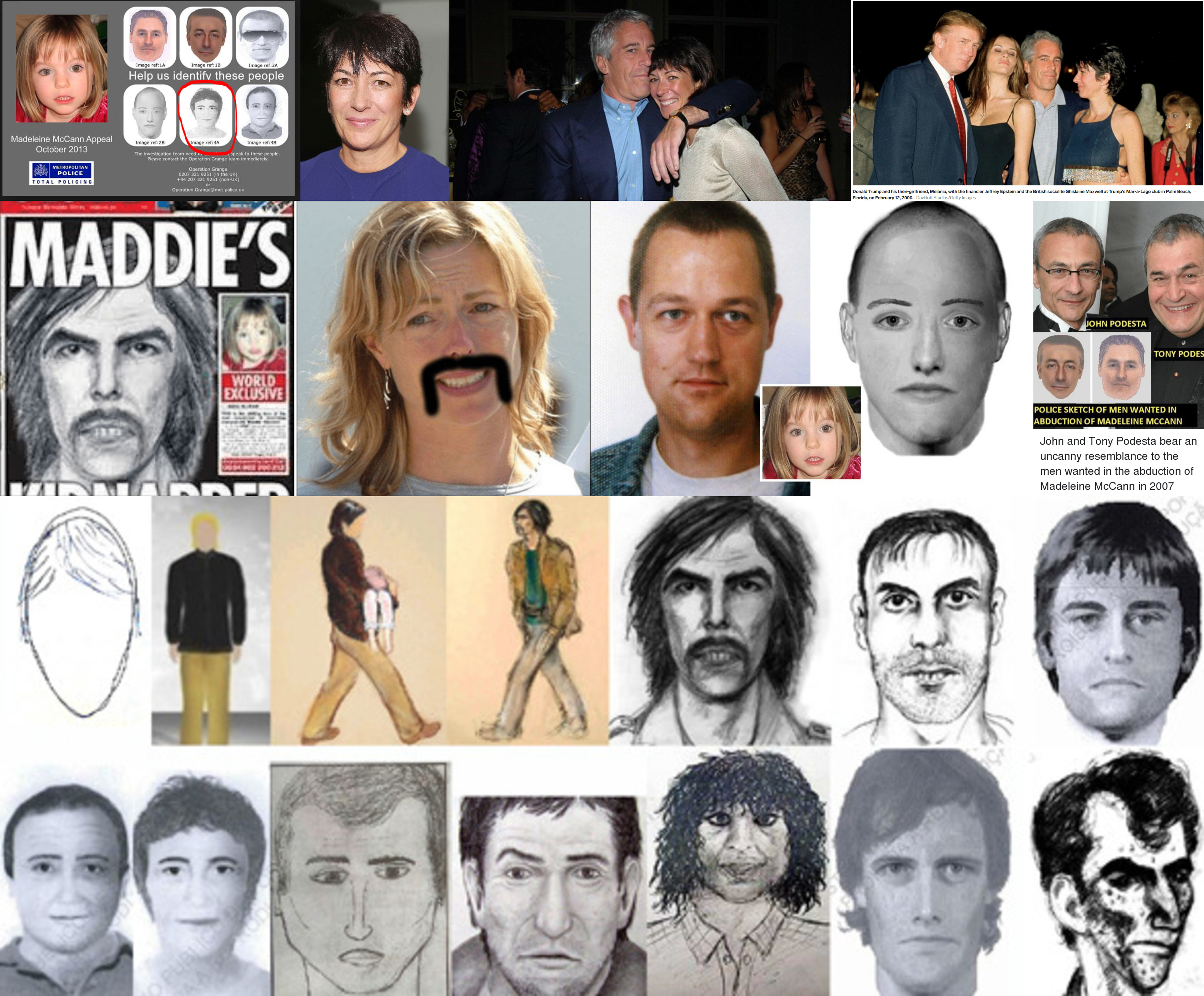 Look at these images and tell me this is not a game show. Ghislaine Maxwell's Madeleine McCann