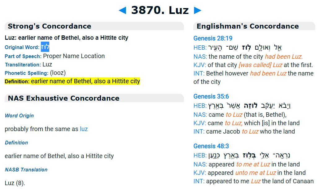 What have we got here? A few things. Hazel is Fountoukia which is hazelnuts etc but then in Greek to Hebrew it gives us לוּז which is then Luz in Strong's Bible search and is the name of Bethel the house of God and the scene of Jacobs ladder....