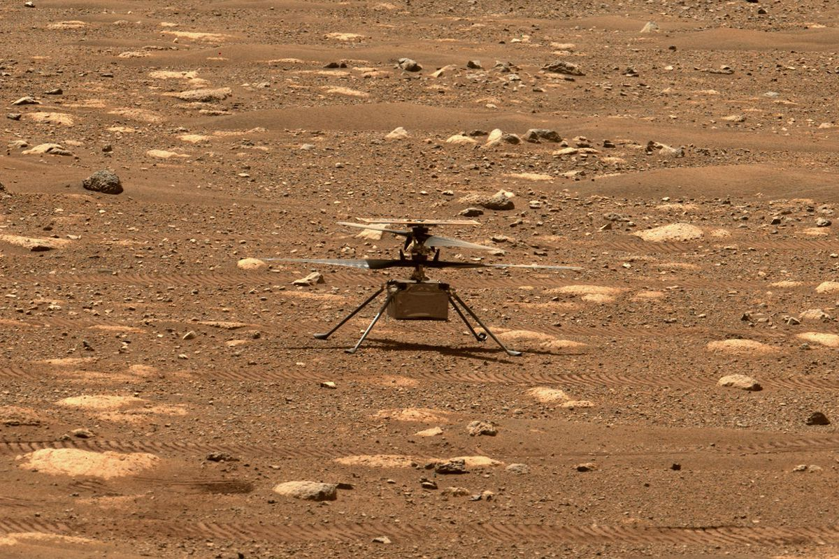 image of helicopter on Mars